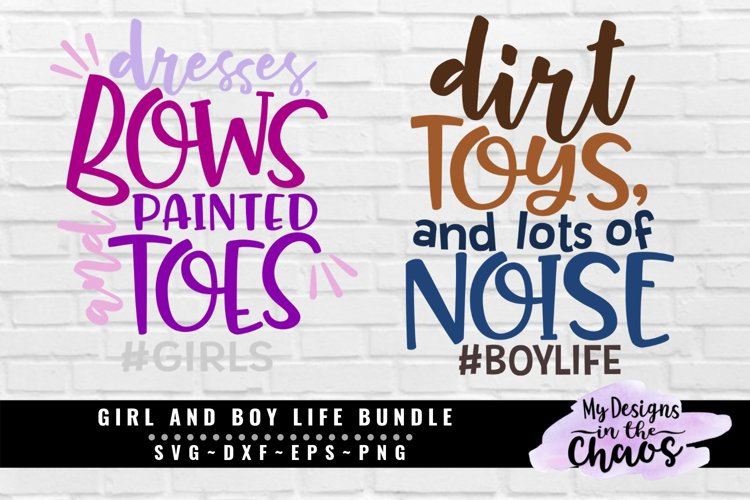 Boy and Girl Bundle of 2 SVG EPS DXF PNG example image 1