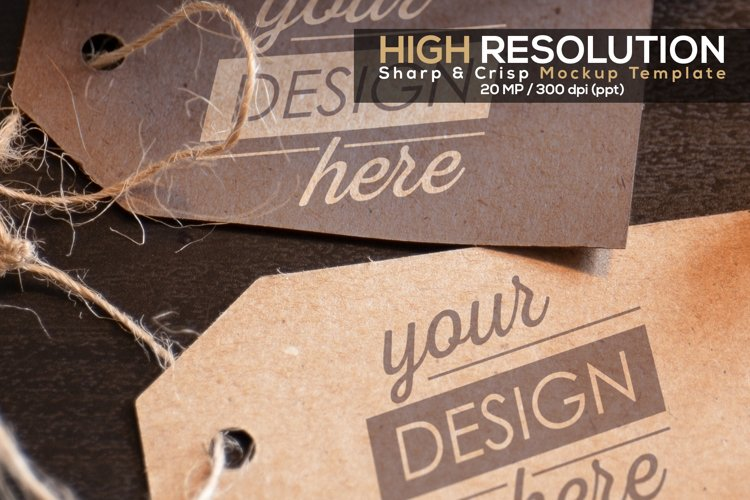 Tag Mockup with Smart Object, High Quality PSD Card Template example 1