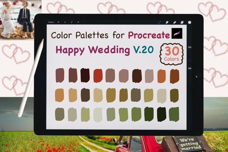 Color Palettes set for Procreate - Happy Wedding V.20 example image 1