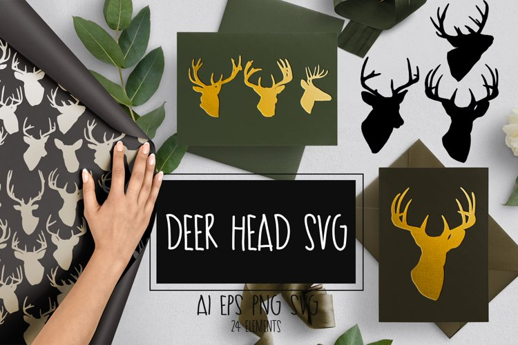 Deer head svg