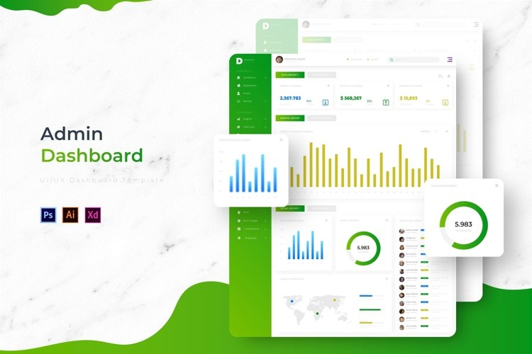 D-Admin Dashboard | Admin Template example image 1