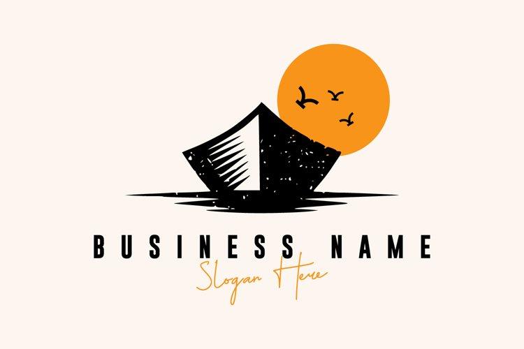 Boat logo design premium vector example image 1