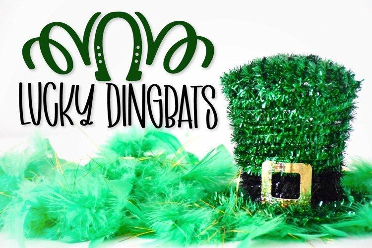 Web Font Lucky Dingbats - A Dingbat St Patrick's Day Font example image 1