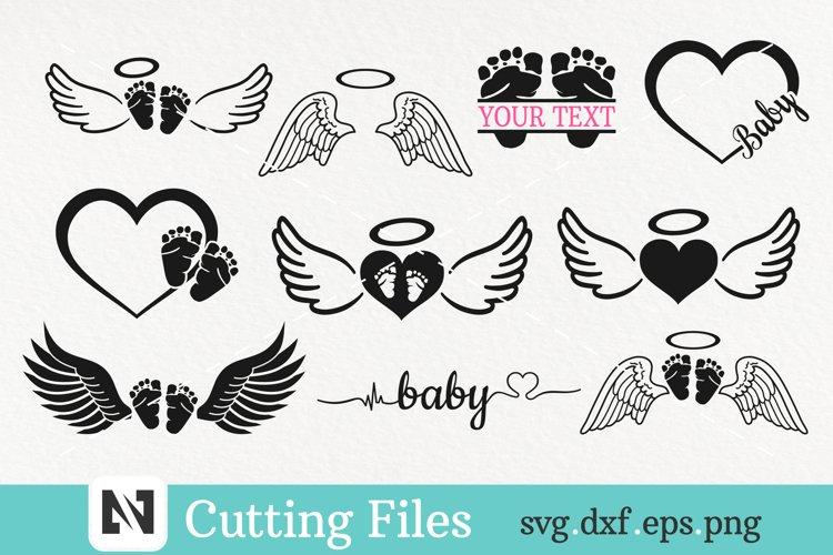 Baby Svg Bundle, Angel Svg, Baby Memorial Svg, Toddler Svg