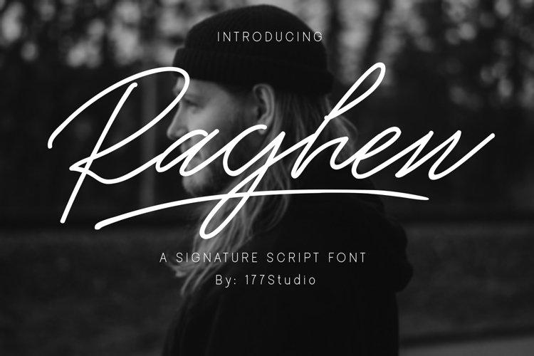 Raghen Script Font example image 1