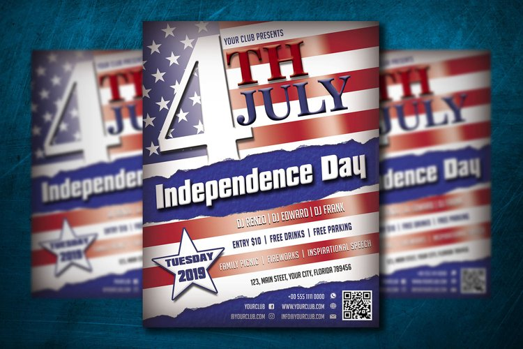 4th JULY FLYER TEMPLATE | Independence Day Template example image 1