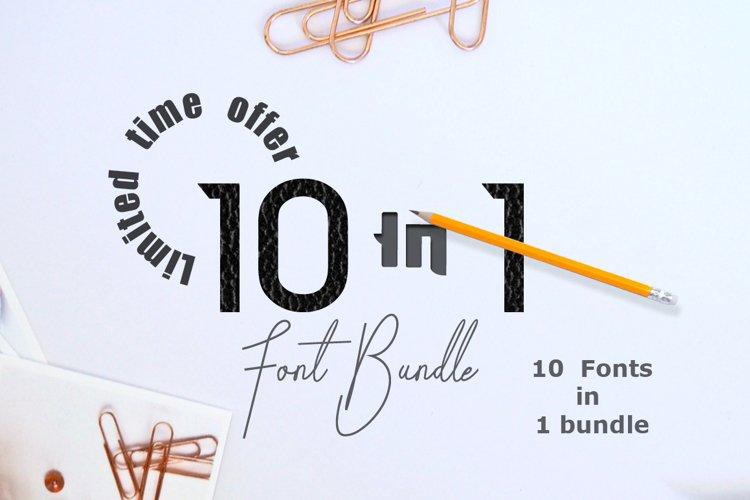 10 in 1 - font bundle