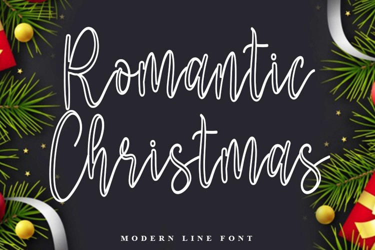 Romantic Christmas | Modern Line Font example image 1