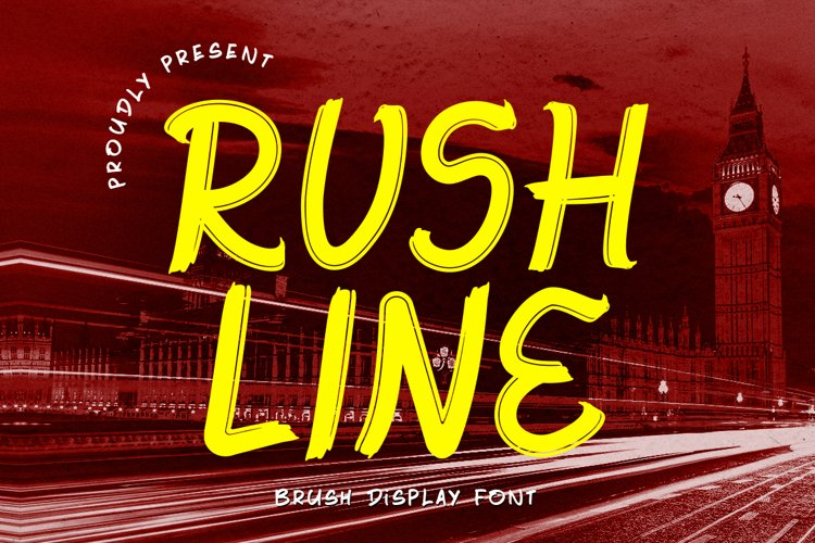 Rushline - Brush Display Font example image 1