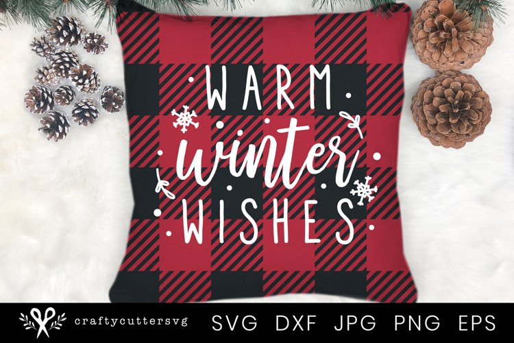 Winter Svg | Winter Pillow Cushion Cut File for Cricut example image 1