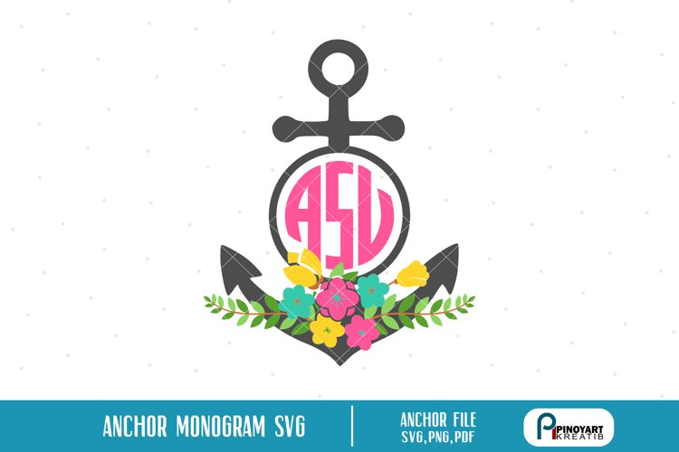 anchor monogram svg,anchor svg,anchor monogram,monogram svg example image 1