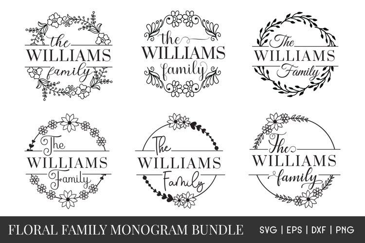 Family monogram SVG Bundle - Family Name Sign Monogram SVG