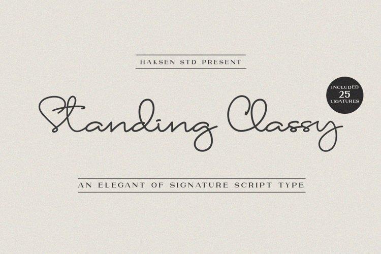 Standing Classy Script example image 1