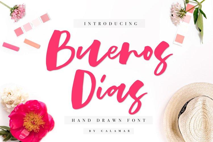 Buenos Dias Font + Extras example image 1
