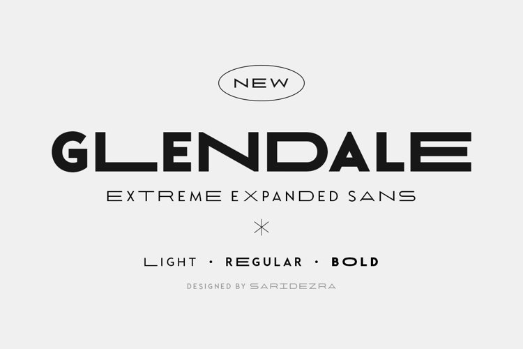 Glendale - Extreme Expanded Sans example image 1