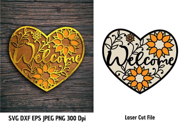 Welcome SVG|Heart Frame SVG|Welcome Floral Frame|Sunflowers