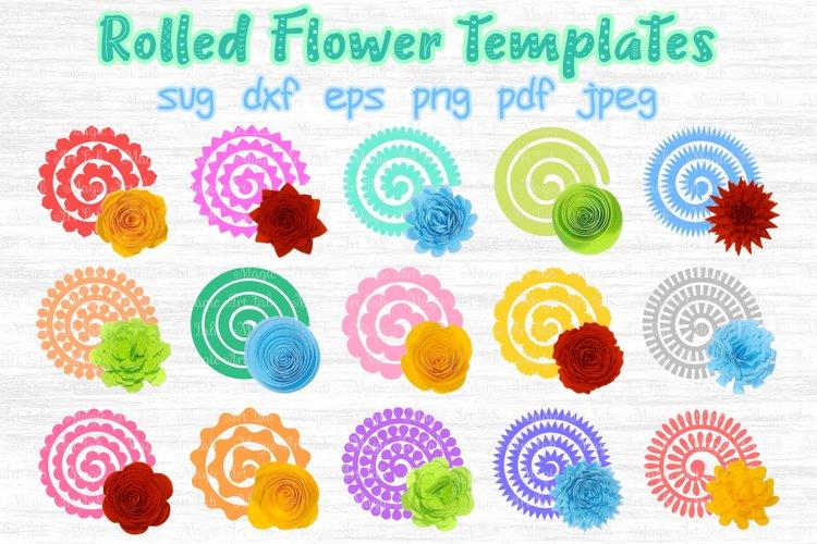 Rolled Flower svg, 3d flower svg, Paper Flower svg
