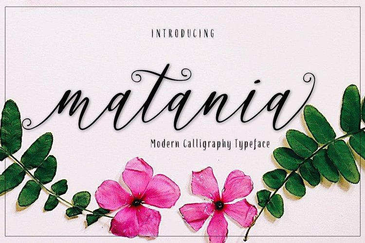 matania script Font example image 1