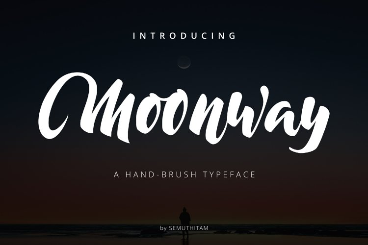 Moonway - A Hand Brush Typeface