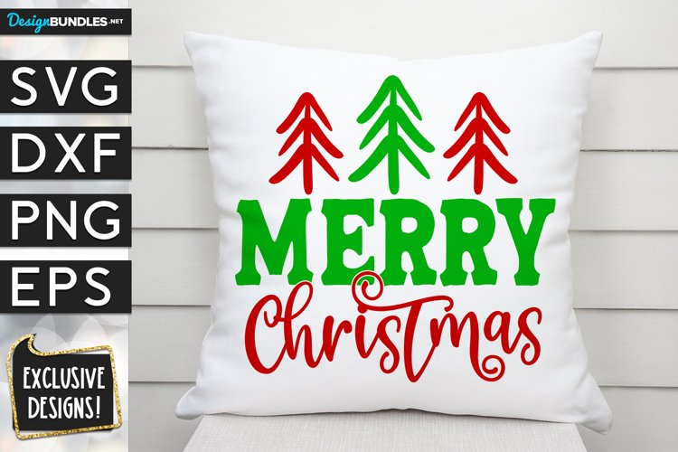 Merry Christmas Stick Trees SVG DXF PNG EPS example image 1