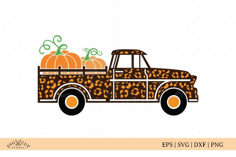 Leopard Print Fall Truck SVG cut files