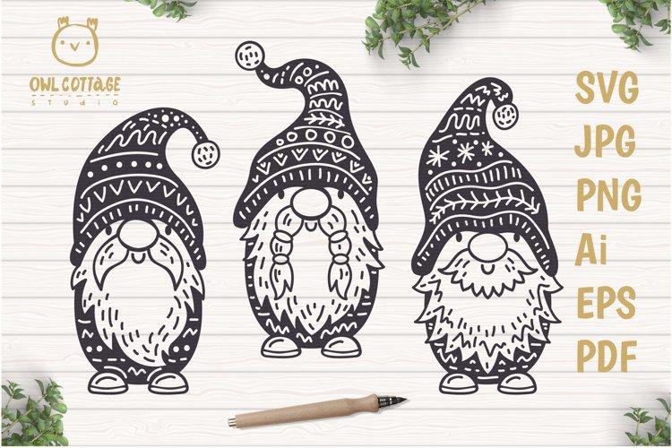 Scandinavian Gnomes SVG, Gnome Clipart, Tomte