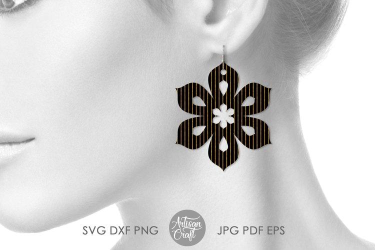 Earring template SVG, sunflower SVG, earrings SVG example 2