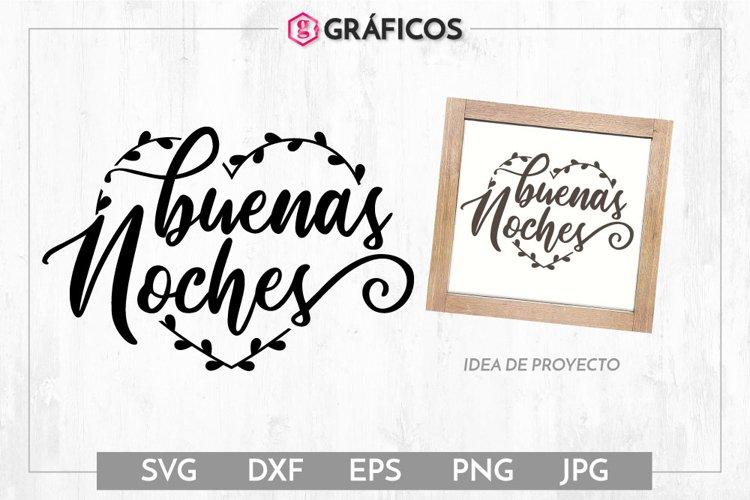 Buenas noches SVG - Frases decoración example image 1