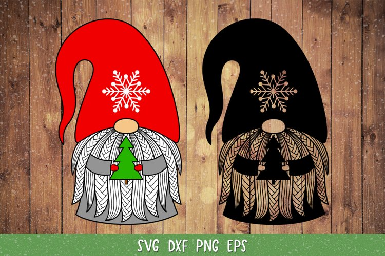 Gnome Christmas SVG,DXF,Christmas Gnome Clipart,Tree SVG example image 1