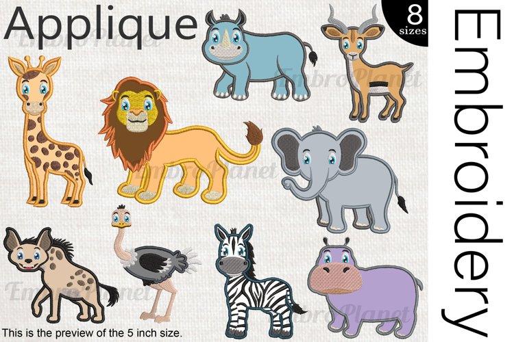 Applique Safari Animals - Embroidery Files - 1489e example image 1