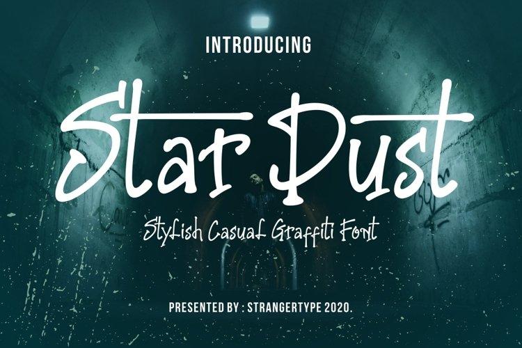 Stardust - Graffiti Font example image 1