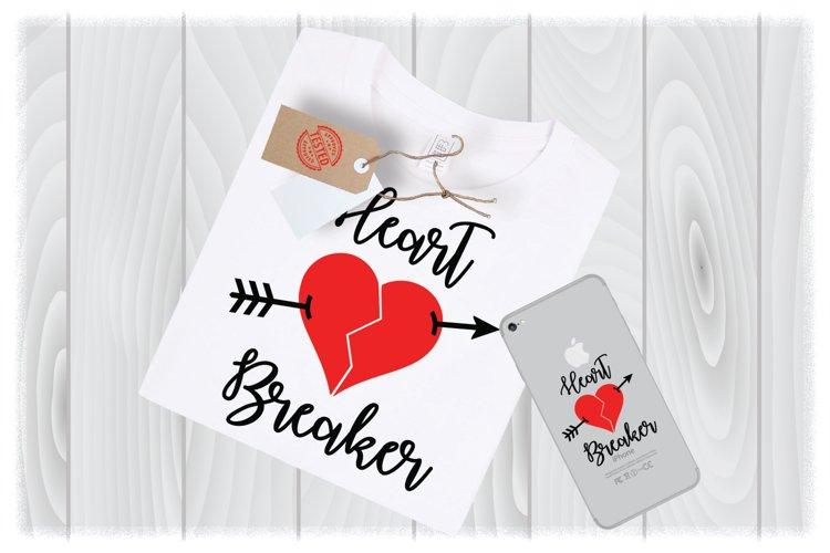 Heart Breaker SVG Files for Cricut Designs   Valentine SVG example image 1
