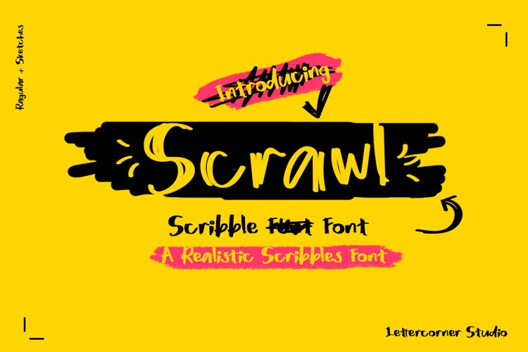Scrawl | Scribble Font example image 1