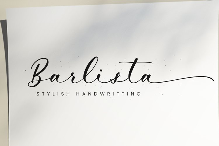 Barlista - Calligraphy Font example image 1