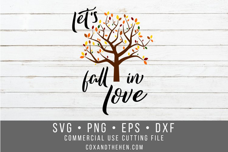 Let's Fall in Love Sign Stencil SVG example image 1