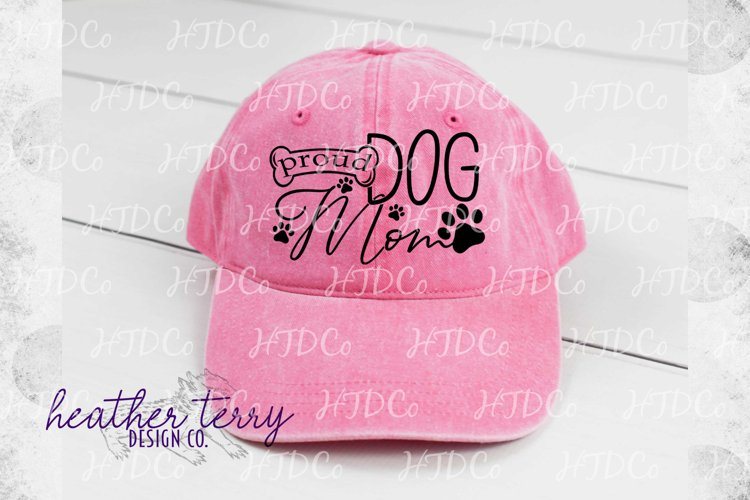 Proud Dog Mom svg, dog paw print, i love my dog