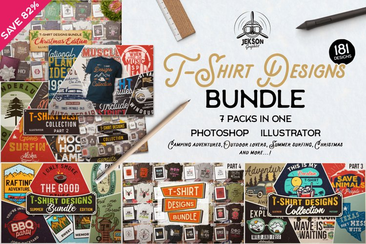 T-Shirt Designs Mega Bundle SVG Retro Sublimation Pack PNG