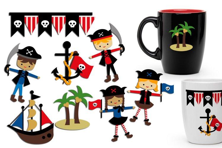 Ahoy pirate clip art graphic illustration