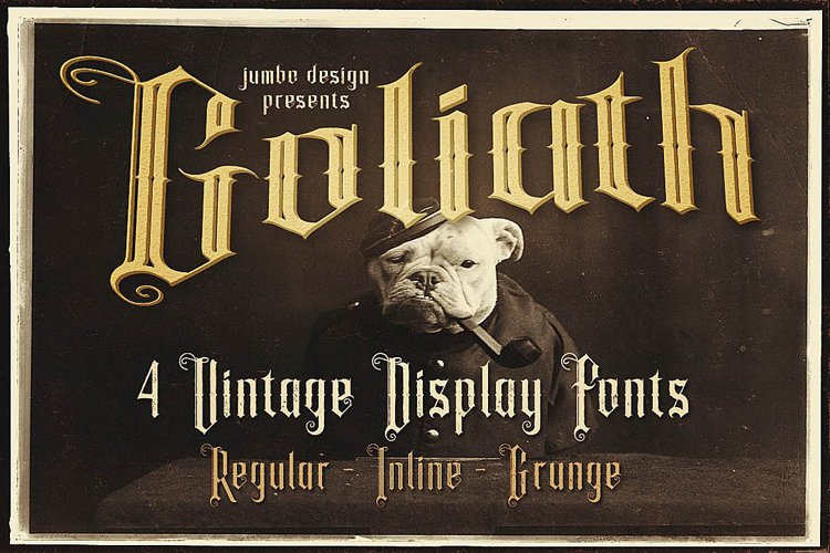 Goliath - Display Font example image 1