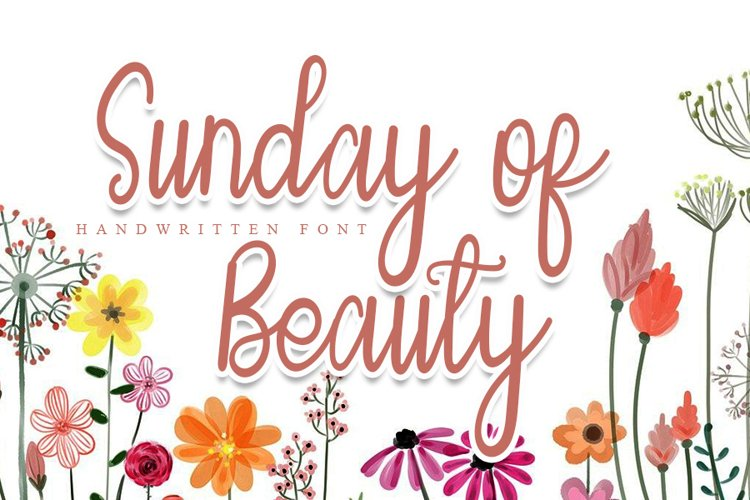 Sunday of Beauty | Handwritten Font example image 1