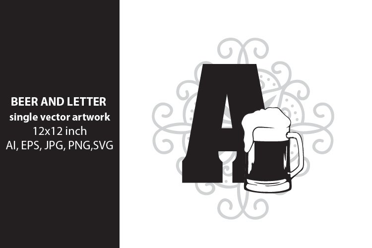 Beer, monogram letter A example image 1