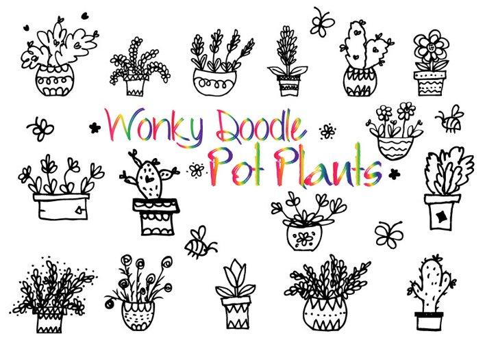 Wonky Doodle Pot Plants