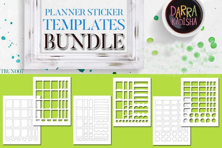 Planner Stickers Digital Kit - Templates Bundle Vol. 7