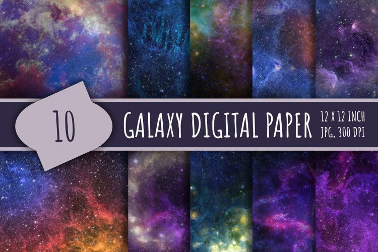 Space digital paper example image 1