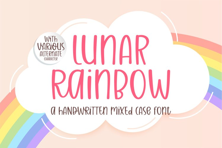 Lunar Raninbow- A handwritten mixed case font example image 1
