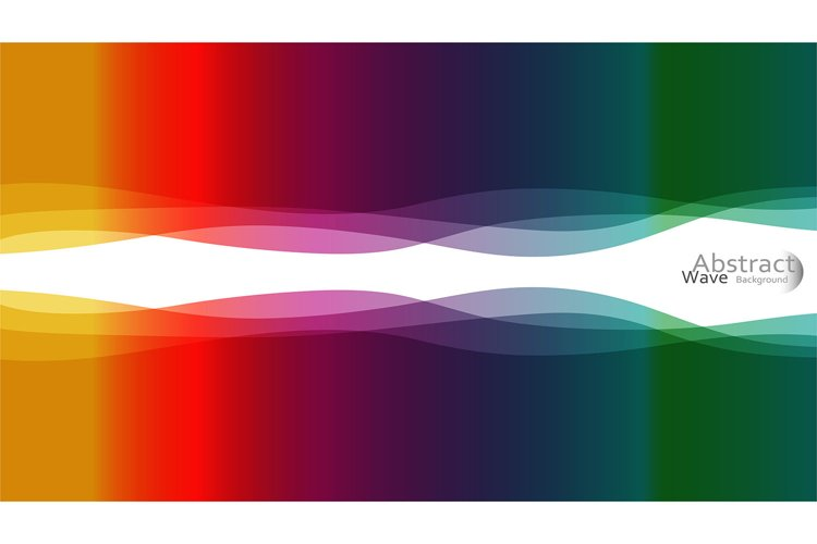 Light RAINBOW, vector pattern with lava shapes. Colorful abs example image 1