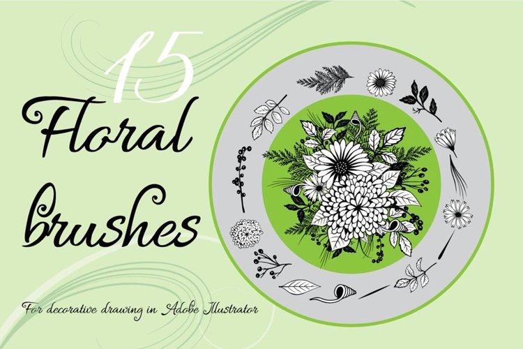 Floral Art brushes for Adobe Illustrator