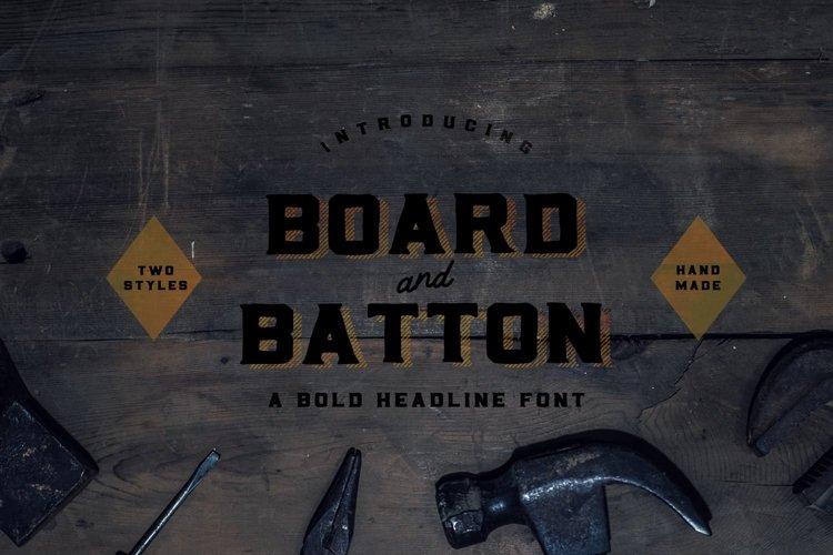 Board and Batton | A Bold Serif example image 1