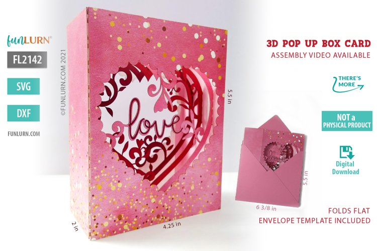3D Pop Up Box Card SVG example image 1