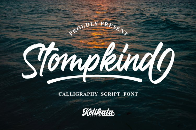 Stompkind Calligraphy Script example image 1